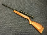 Preloved Webley Vulcan Carbine .22 Air Rifle with Scope and Silencer - As New
