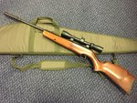 Preloved Webley Xocet .22 Air Rifle with Scope Silencer and Bag - Used