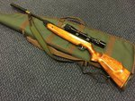 Preloved Weihrauch HW95 .22 Air Rifle with Scope Sling Silencer and Bag - Used
