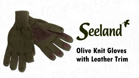 gloves-with-leather-trims-olive-one-size